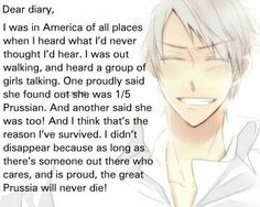 So all of the hetalians are keeping Prussia alive! I knew my life had purpose!