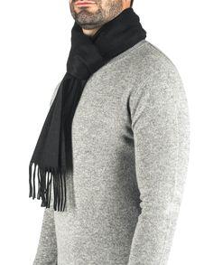 Kaschmir Schal schwarz front Pullover, Sweaters, Fashion, Black Scarves, Cashmere, Scarves, Moda, Fashion Styles, Sweater