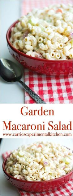 This Garden Macaroni Salad made with fresh tomatoes, cucumbers, celery, carrots and onions is the perfect summer salad.