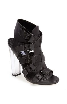 Free shipping and returns on The Blonde Salad x Steve Madden 'Madrid' Sandal at Nordstrom.com. A Lucite® heel intensifies the haute hotness of a multi-strap sandal detailed with a bevy of buckles. Part of a collaboration between fashion icon Steve Madden and famed Italian blogger Chiara Ferragni of The Blonde Salad, this capsule collection blends eclectic edge with an effortlessly cool aesthetic.
