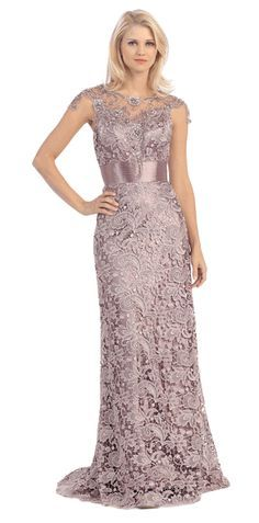 Elegant Mocha Full Length Formal Event Dress - Discountdressup Store #Mocha #FormalDress #WeddingeventDress