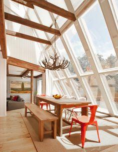 Plochmann Lane - farmhouse - Dining Room - New York - Dichotomy Interiors