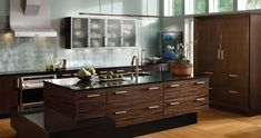 Connoisseur Kitchen   Wood-Mode   Fine Custom Cabinetry Room 41 of 46 in Kitchen Gallery.  Macassar Ebony wood