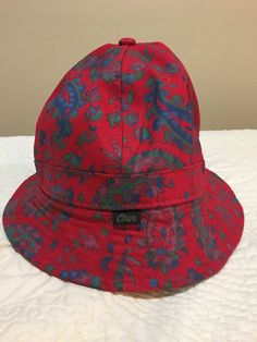 Obey bucket Hat Floral Pattern Red Cotton  fashion  clothing  shoes   accessories   db0273587fe3