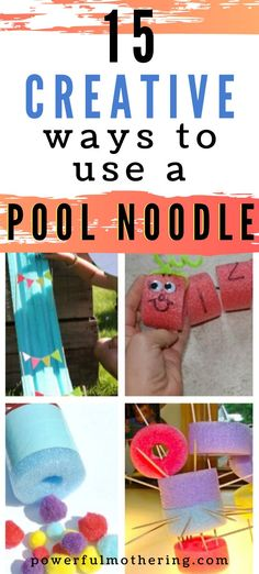 15 Ideas to Use your *POOL* Noodle Pool Noodles, Craft Activities For Kids, Toddler Preschool, Fine Motor Skills, Creative, Crafts, Ideas, Manualidades, Motor Skills