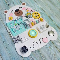 Toddler Busy Board Activity Toy For Baby Sensory Board Montessori Toys Baby Sensory Board, Toddler Activity Board, Sensory Wall, Sensory Boards, Activity Toys, Sensory Toys, Autism Sensory, Maria Montessori, Montessori Activities