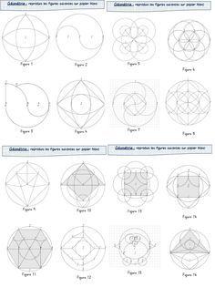 """Pas facile de trouver de quoi occuper """"intelligemment"""" les élèves quand on gère un double niveau (ou pas !). Je trouve que les activités géométriques de reproduction se prêtent bien ce genre de sit... Geometry Activities, Math Activities, Math Sheets, Montessori Math, Math Projects, Math Art, Reproduction, Teaching Tools, Sacred Geometry"""