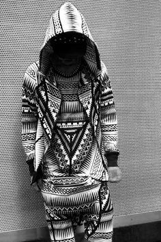 One big Aztec quilt