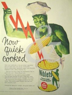 Jolly Green Giant Lightning Large 1950s Ad by thevintageshop on etsy.