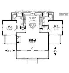 Best Barndominium Floor Plans For Planning Your Barndominium House 2 Bedroom House Plans, Cottage Floor Plans, Cottage House Plans, House Floor Plans, Best House Plans, Dream House Plans, Small House Plans, Home Designer, House Blueprints