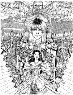 peacock coloring page see more labyrinth by danielleisterdeviantartcom on deviantart