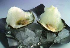 ostras con espuma de limon