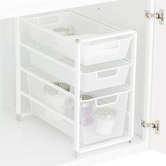 Cabinet-Sized elfa Mesh Drawer Solution