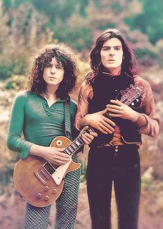 Marc Bolan and Mickey Finn