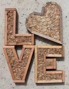 SALE DIY Monogram Letter Vertical Garden by SucculentWonderland