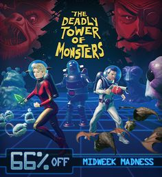 The Deadly Tower of Monsters is Steam's Midweek Madness sale! 66% off. Get it now! http://store.steampowered.com/app/353700 The game has also been updated with an all new Survival Mode! Battle through increasingly difficult waves of Sci-Fi creatures to earn credits for upgrading your weapons and powers. The deadliest challenge awaits! #ACETeam #VideoGames #Gaming #GameDev #IndieDev #IndieGame #IndieGames #PCGame #PCGames #Steam #ActionGames #AtlusUSA #SciFi #ScienceFiction #BMovie