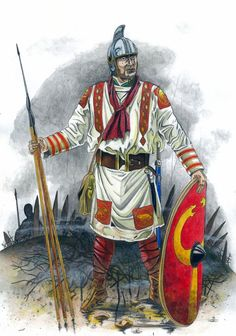 0406 Veteran soldier of the Western Roman Empire is expecting arrival of invading barbarian hordes under Radagaisus early in 406 A.D. northern italy.