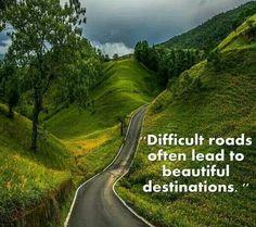 Difficult roads & beautiful destinations