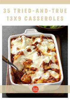 These trustworthy 13x9 casseroles will cook perfectly. From traditional classics to kid-friendly favorites, bank on these recipes for reliable meals. Parmesan, Baking Recipes, Cake Recipes, Crowd Recipes, Dinner Recipes, Light Recipes, Chicken With Italian Seasoning, Cheese Dishes, Pasta Dishes