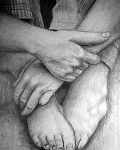 Students will create a large scale pencil drawing of a Figural Fragment with Cloth using personally taken or internet images of compositions including hands, feet, clothing.