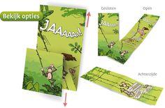 #Trouwkaart met knipoog naar #Tarzan en Jane