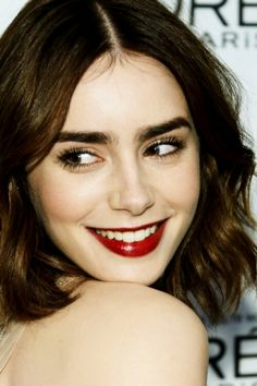 lily collins gamine makeup