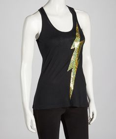 Take a look at this Black Lightning Racerback Tank by Black Hearts Brigade on #zulily today!