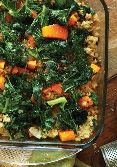 butternut squash kale quinoa bake; 9 Vegetarian Casseroles Even Meat Eaters Will Love  Read more: http://www.oprah.com/food/vegetarian-casserole-recipes#ixzz4a0DGpwWx