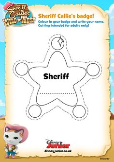 sheriff callie coloring pages - Google Search Estrella De Sheriff ca12f13a0ef