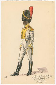 Ufficiale dei granatieri del 7 rgt. di fanteria della legione napoletana