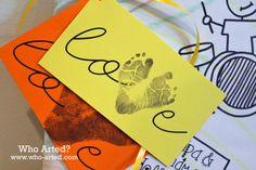 Footprint Gift Tags