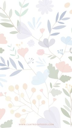 Cute Background Pictures, Flower Background Wallpaper, Flower Phone Wallpaper, Screen Wallpaper, Background Patterns, Iphone Wallpaper, Simple Wallpapers, Pretty Wallpapers, Watercolor Wallpaper