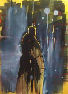 "Saatchi Art Artist OSCAR ALVAREZ; Painting, ""ROMANCE..4"" #art"