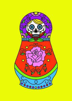 Sugar Matrioshkas #5 Art Print by Filipa Amado