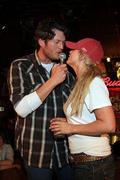 Blake Shelton & Miranda Lambert - I love their relationship, They are so cute together.