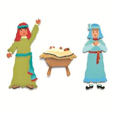 Use these Embellish Your Story Holy Family Magnets as part of your Embellish Your Story Nativity Scene. These delightful nativity scene magnets can be used on a magnet board or with the new Embellish Your Story small round stands or nativity magnet. Magnet will also adhere to any magnetic surface. Perfect for the holidays.