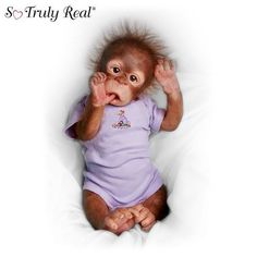Little Risa Baby Orangutan Doll So Truly Real by Ashton Drake | eBay