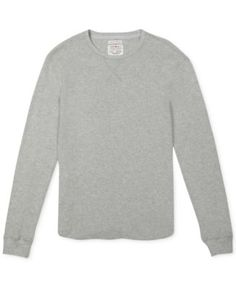 Lucky Brand Jeans Solid Slub Thermal Shirt