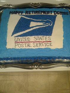 Postal worker retirement cake