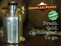 The uKeg™ growler keeps beer fresh and cold on the go. Vacuum insulated stainless steel with carbonation cap, pressure gauge and tap.