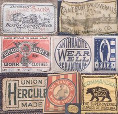Vintage union workwear labels