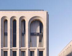 New Classical Architecture, Architecture 101, Arch Building, Building Facade, Facade Design, Exterior Design, Art Deco Home, Architect House, Facade House