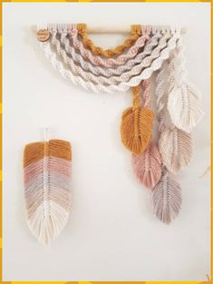 Your marketplace to buy and sell handmade items. - E a r t h upside down rainbow feather wall hanging