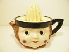 Ceramic Lemon Juicer With Face by DottieDigsVintage on Etsy, $32.00
