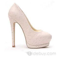 New Fancy Platform Stiletto Heel Cerrado Shoes dedo del pie de la Mujer