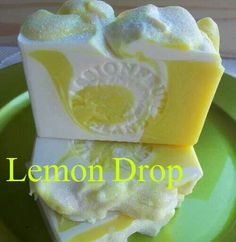 Lemon Drop by Passionfruit Soaps Homemade Scrub, Homemade Soap Recipes, Homemade Cleaning Supplies, Soap On A Rope, Decorative Soaps, Soap Packaging, Packaging Ideas, Soap Maker, Bath Soap