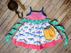Feeling Fishy! Perfect for fishing with Daddy! Love this new tank dress!    I found this on www.kidsflytoo.com