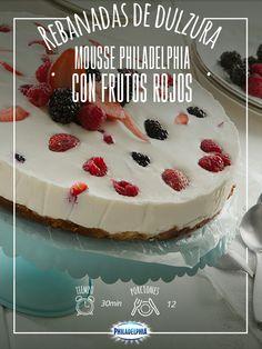 Comparte rebanadas de amor con este delicioso Mousse Philadelphia.