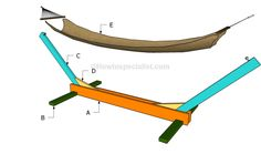 Medium image of this step by step diy woodworking project is about how to build a hammock stand  building a wood hammock stand will enhance the look of your yard and be a