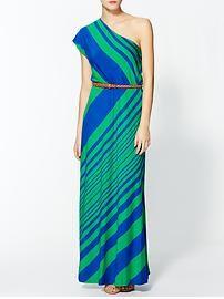 Calvin Klein One Shoulder Maxi Dress